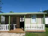 Rental - Chalet LOISIR 2 bedrooms 24 M2 + sheltered terrace - Camping Aloé