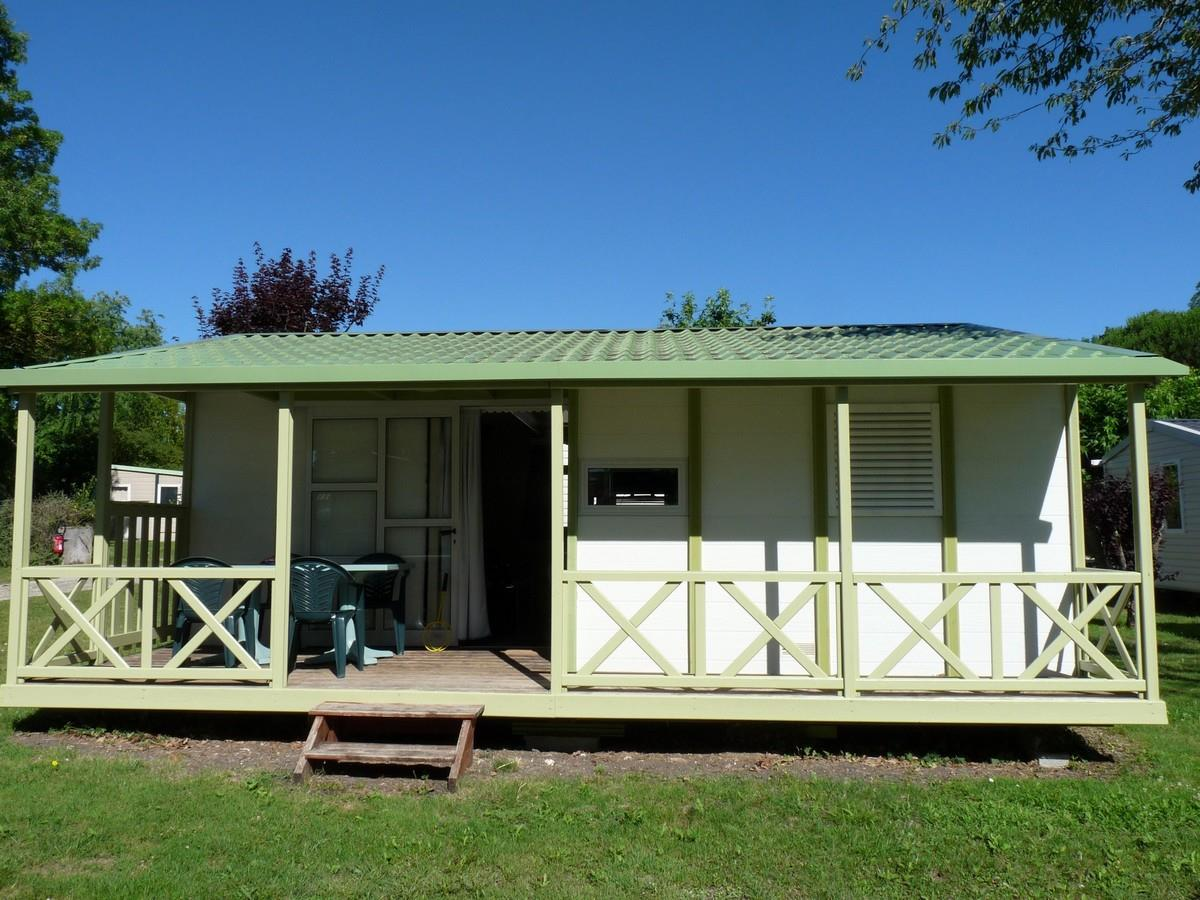 Location - Chalet Family 3 Chambres 29M² + Terrasse Couverte - Camping Aloe