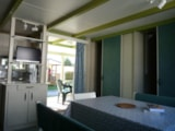 Rental - Chalet FAMILY 3 bedrooms 29 m² + sheltered terrace - Camping Aloé