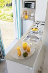 Rental - Mobilhome  PASION  24M2, sheltered terrace - Camping Aloé