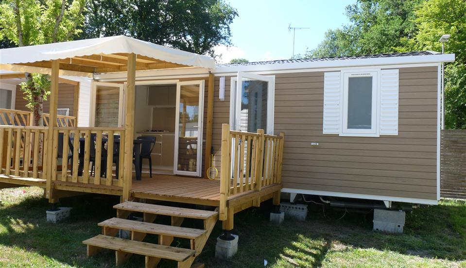Location - Mobilhome  Rivierra  2 Chambres  24M2 , Terrasse Couverte - Camping Aloe