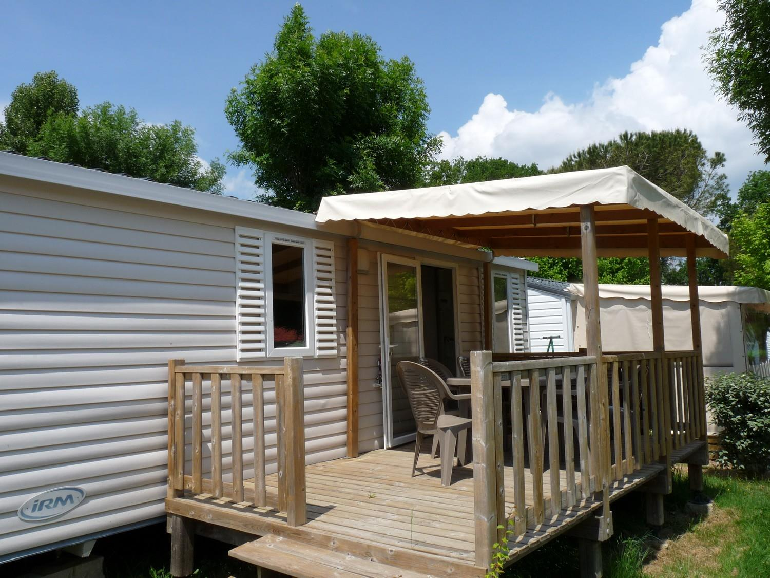 Location - Mobilhome Cactus  2 Chambres  28M²,  Terrasse Couverte - Camping Aloe