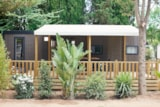 Rental - Mobile home KOSY 5, Wooden terrace with awning, TV, Air conditioning, 1 car (2 bedrooms) - Ecolodge L'Etoile d'Argens
