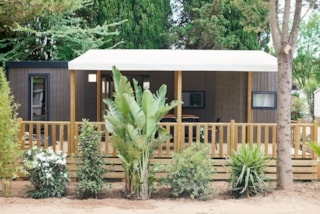 Mobile Home Kosy 5, Wooden Terrace With Awning, Tv, Air Conditioning, 1 Car (2 Bedrooms)