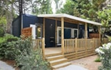 Rental - Mobile home KOSY 6, wooden terrace with awning, air conditioning, TV, 120 m² plot, 1 car (3 rooms) - Ecolodge L'Etoile d'Argens