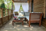 Rental - Mobile home LODGE KABANE, wooden terrace with awning, air conditioning, TV, 1 car (2 rooms) - Ecolodge L'Etoile d'Argens