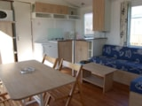 Rental - Mobil-home 2 bedrooms 29m² + Half-covered terrace 15m² - Camping Le Varquez-sur-Mer