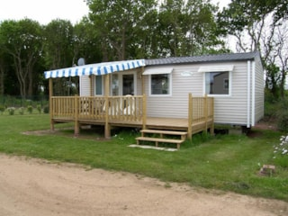 Mobil-home 3 bedrooms 33m² + half-covered Terrace