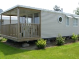 Rental - Mobil home Panoramique 26m² Seaview + sheltered terrace - Camping Le Varquez-sur-Mer