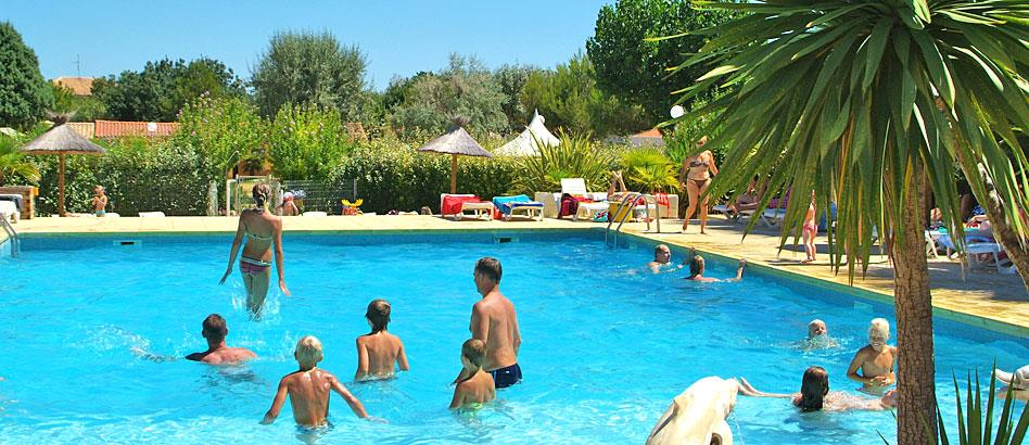 Baignade Camping Beau Rivage - MEZE