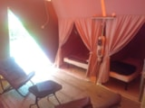 Rental - Small Lodge 20m² (2 bedrooms) without toilet - Camping Coeur d'Ardèche