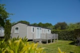 Rental - Mobile home 40m² with private facilities - 3 bedrooms + Terrace - Camping de la Plage Bénodet
