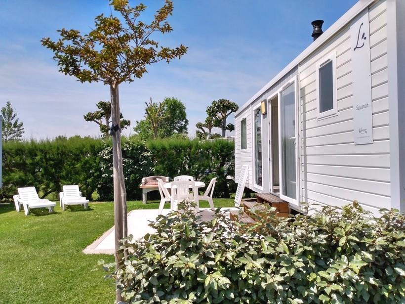 Mobil-home Grand Confort 2 chambres - Lodge 77 ou Savanah 30m² 1/4 Pers.
