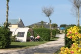 Pitch - Comfort Package (1 tent, caravan or motorhome / 1 car / electricity 6A) - Flower Camping UTAH-BEACH