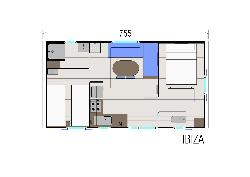 Mobile home 27,5m² 2 bedrooms + überdachte Terrasse