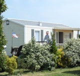 Rental - Mobile Home Confort+ 27,5 M² (2 Bedrooms) + Überdachte Terrasse + Tv - Flower Camping UTAH-BEACH