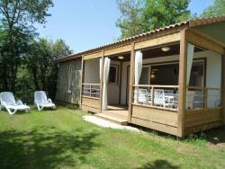 Huuraccommodaties - Chalet KRYSTAL MIDWEEK - 3 bedrooms - 1 bathroom - airco - TV - Camping Les Peneyrals