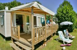 Huuraccommodaties - Mobil home RIVIERA MIDWEEK - 2 bedroom -1 bathroom - TV - Camping Les Peneyrals