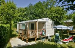 Huuraccommodaties - Mobil home LOGGIA MIDWEEK - 2 bedroom -1 bathroom - TV - Camping Les Peneyrals