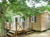 Rental - Mobile home, 2 bedrooms, 28 m², terrace - Camping Les Charmes