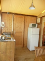 Rental - Cabane Lodge 22m² + covered terrace 11m² - Camping Les Charmes