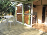 Rental - Chalet NEMO CONFORT+  20m²  2 bedrooms - sheltered terrace - Flower Camping LE PLAN D'EAU