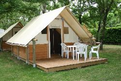 Locatifs - Bungalow Toilé Canadienne - Camping Arc en Ciel
