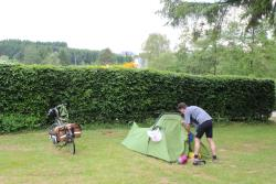 Pitch Tent for hikers,cyclists and motorcyclists  incl. 1 pers.