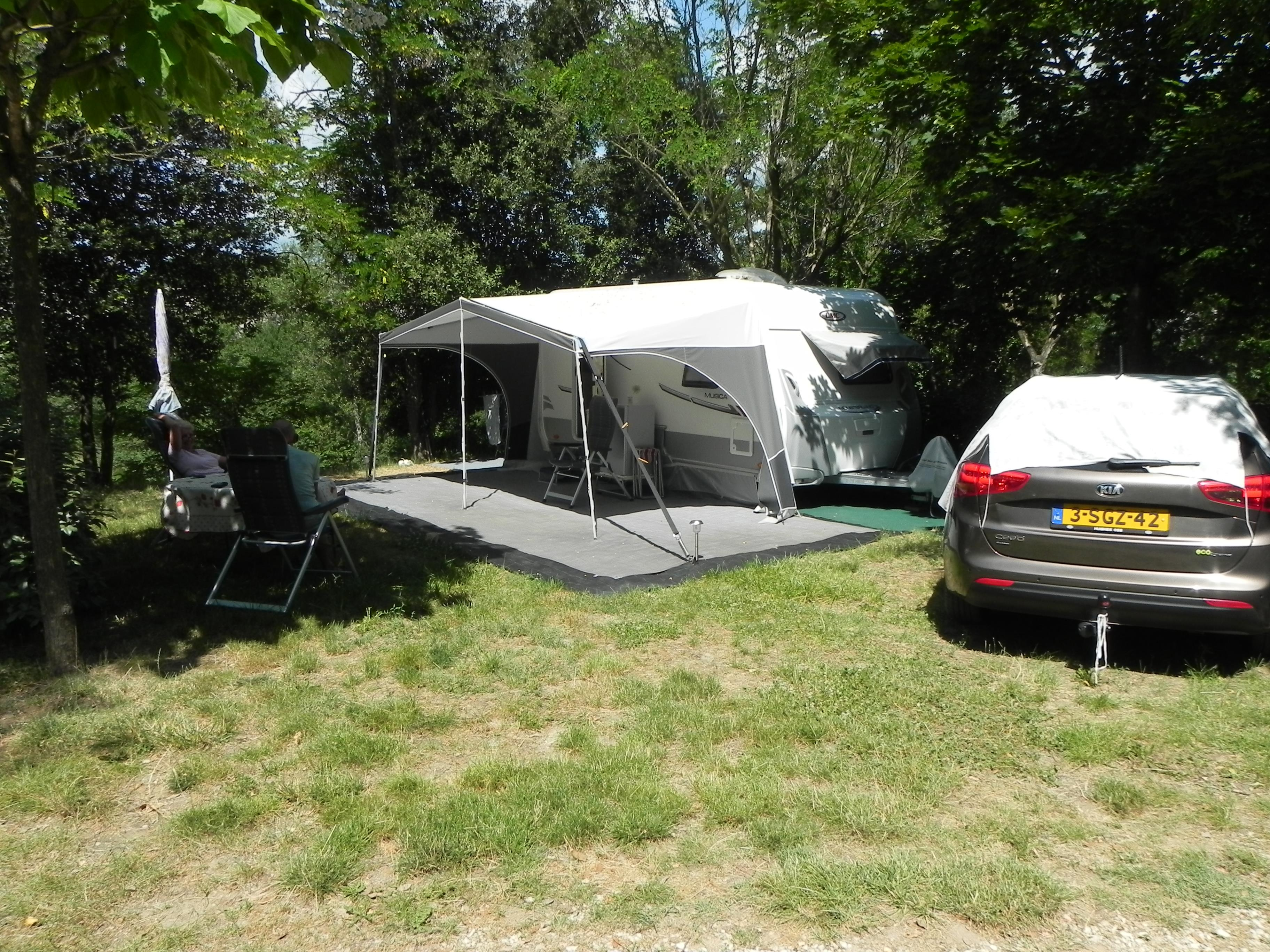 Package Pitch tent or caravan + 1 car 1/6 Ppl. & Camp-site in Ruoms pitches for tents and caravans: Le Carpenty 3 ...