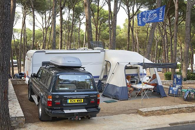 Pitch standard : car + caravan or camping-car + electricity