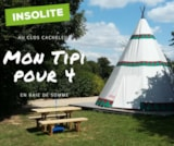 Rental - Tepee with family 2 to 4 people - Camping Sites et Paysages LE CLOS CACHELEUX