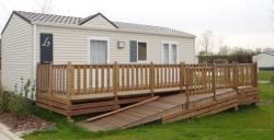 Mobile-home 2 bedrooms - adapted to the people with reduced mobility