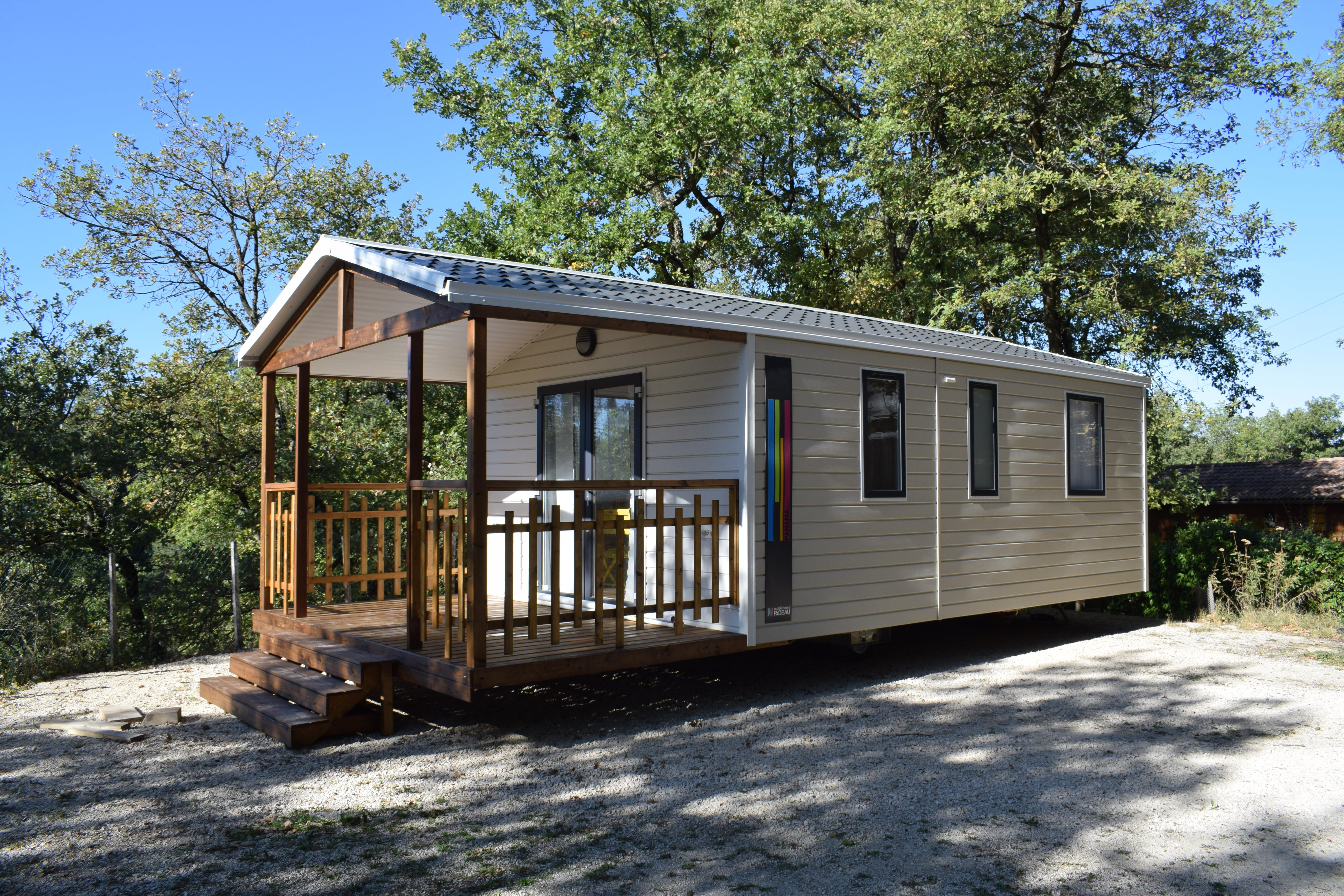 Mobil home 2 rooms 24m², covered terrace (2019) : 3 PERSONS + 1 BABY (under 3 years old)