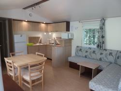 Accommodation - Mobil Home 2 Rooms 37M², Covered Terrace  + Air-Conditioning - Domaine la Garenne