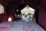 Rental - Lodge CONFORT 37m² (2 bedrooms) - covered terrace 13m² - Camping Lou Comtadou
