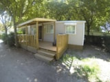 Rental - Mobile Home SUNNY 28 m² (3 bedooms) - sheltered terrace 12m² + TV - Camping Lou Comtadou