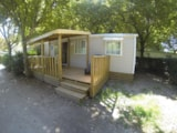 Rental - Mobile Home PREMIUM 38 m² (3 bedooms) + sheltered terrace 17m², TV, CLIM - Camping Lou Comtadou