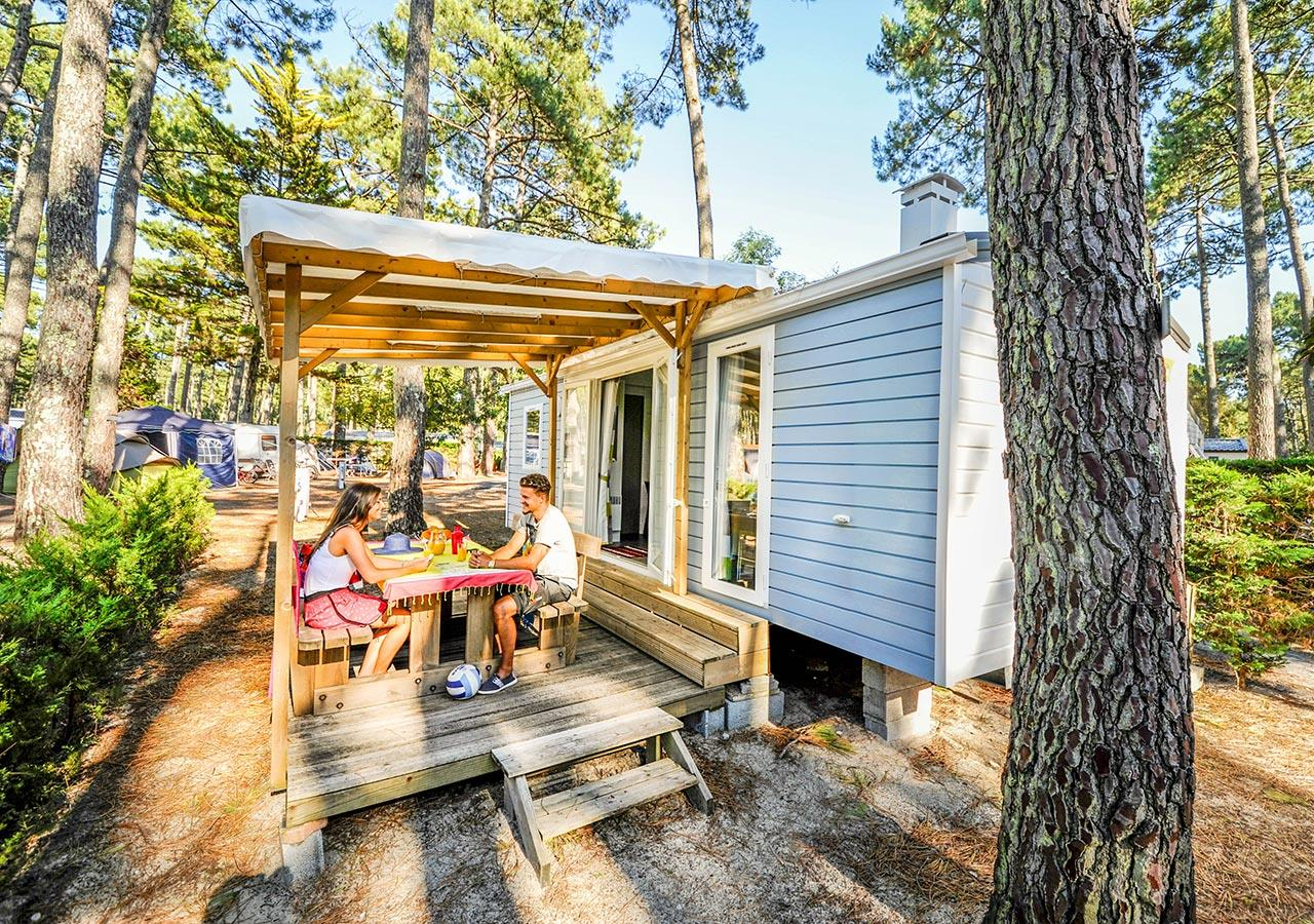 Location - Mobil-Home Cosy 2 Chambres - Camping Le Vieux Port