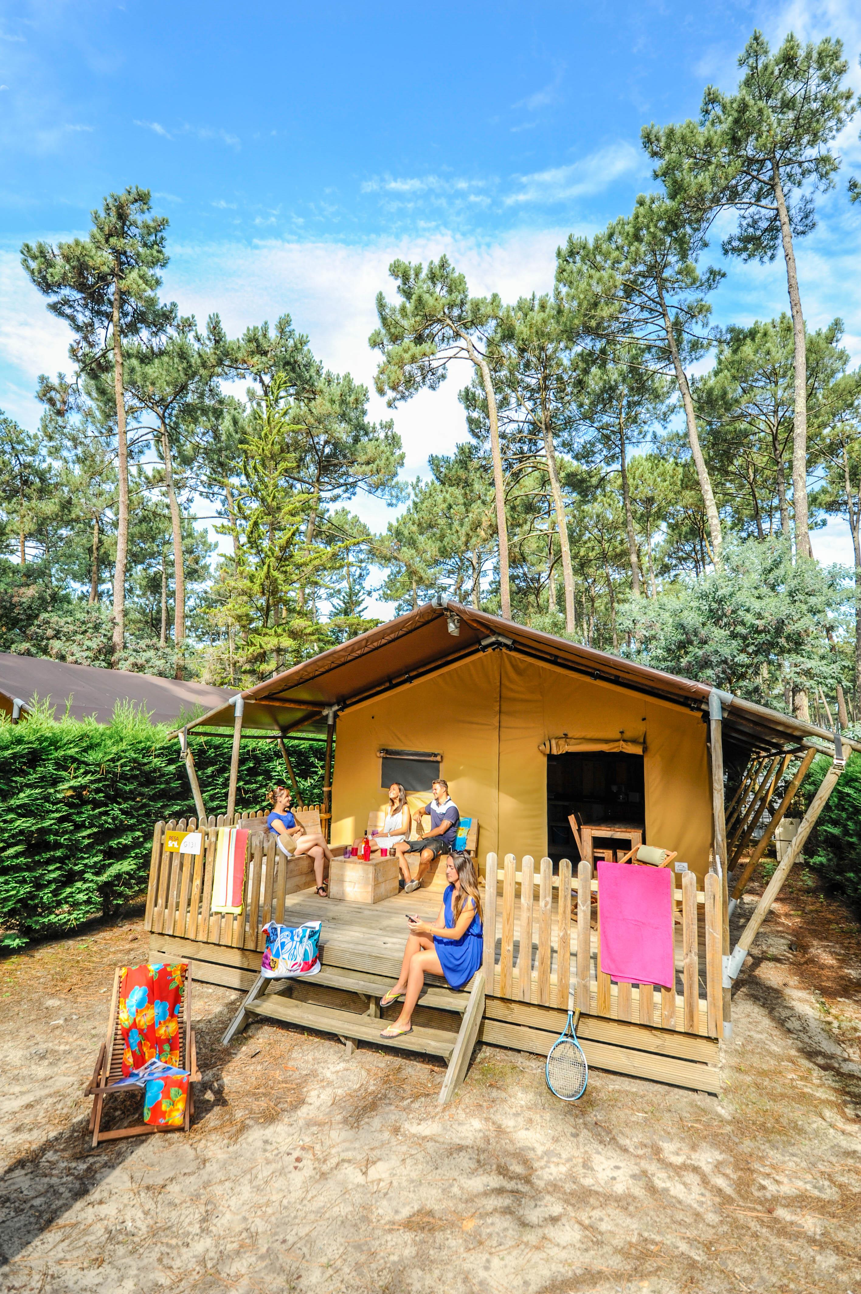 Location - Tente Ecoluxe 2 Chambres - Camping Le Vieux Port