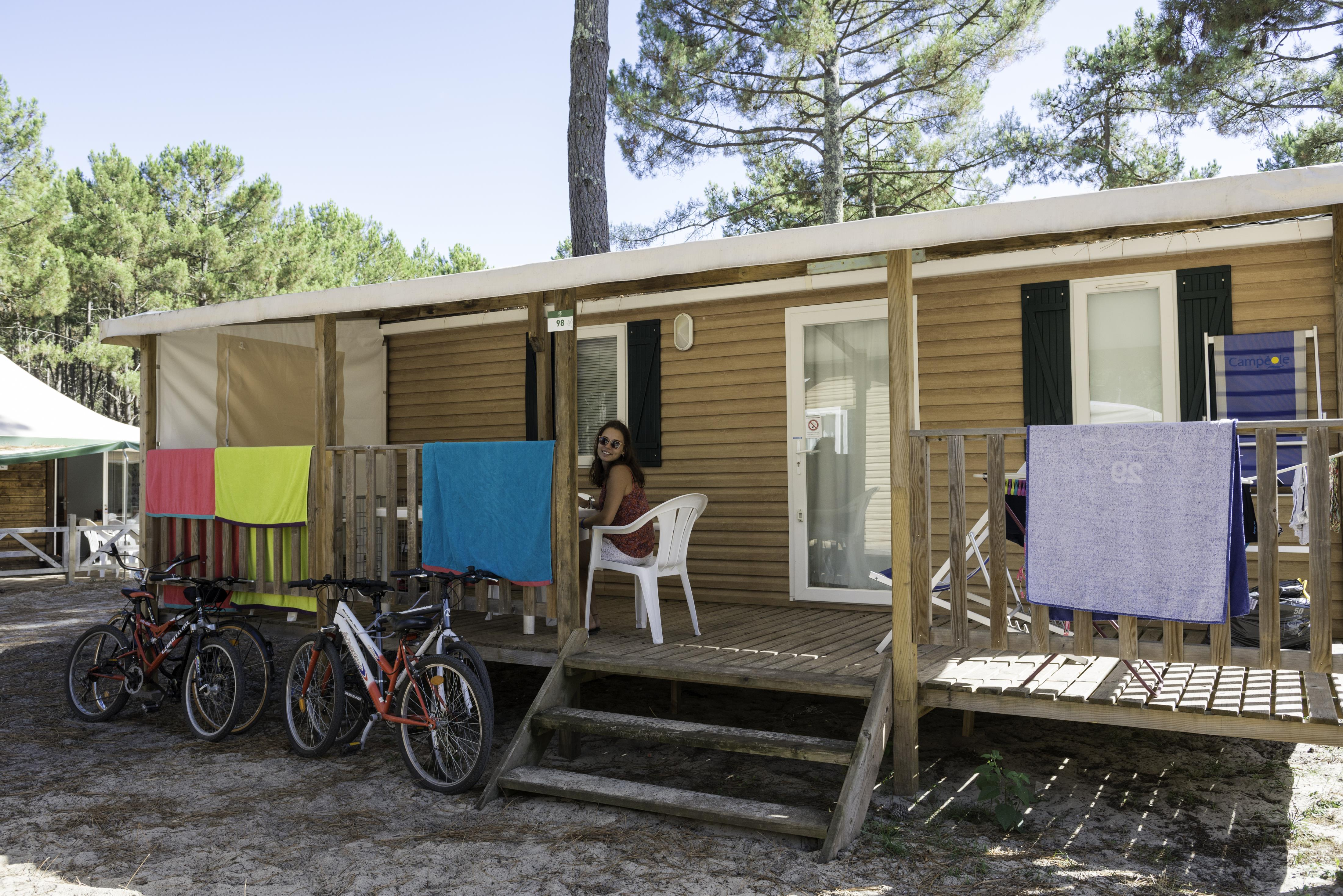 Location - Mobil-Home 30M² - 3 Chambres - Camping Campéole Le Courounba