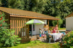 Rental - Chalet 32 m² with wooden terrace (13m²) - Camping Sites et Paysages AU CLOS DE LA CHAUME