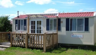 Mobil-Home Sapin 24 M² With Wooden Terrace