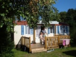 Rental - Cottage 24 m² with terrace and air-conditioning - Camping Sites et Paysages AU CLOS DE LA CHAUME