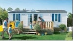 Rental - Bungalow 28m² with wooden terrace - Camping Sites et Paysages AU CLOS DE LA CHAUME