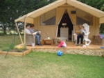 Rental - Cotton Lodge Nature 20 m² with wooden terrace - Camping Sites et Paysages AU CLOS DE LA CHAUME