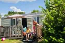 Mietunterkünfte - Bungalow Bouleau 28 M² With Wooden Terrace - Camping Sites et Paysages AU CLOS DE LA CHAUME