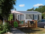 Rental - Bungalow 33 m² Disabled with wooden terrace - Camping Sites et Paysages AU CLOS DE LA CHAUME