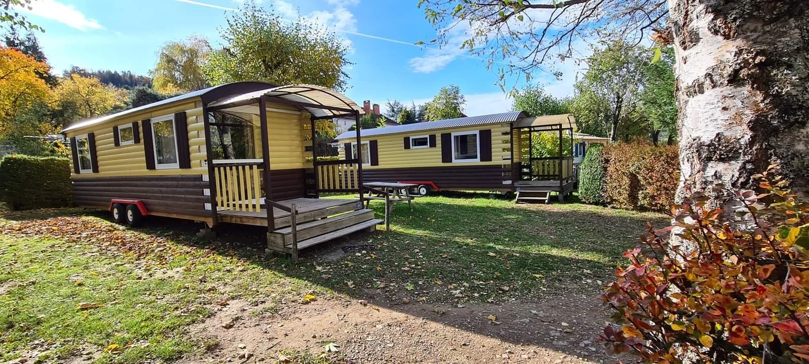 Location - Roulottes - Camping Les Deux Pins