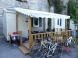 Rental - Mobil Home Evolution 27 2 Bedrooms + Covered Terrace - Camping les Actinidias