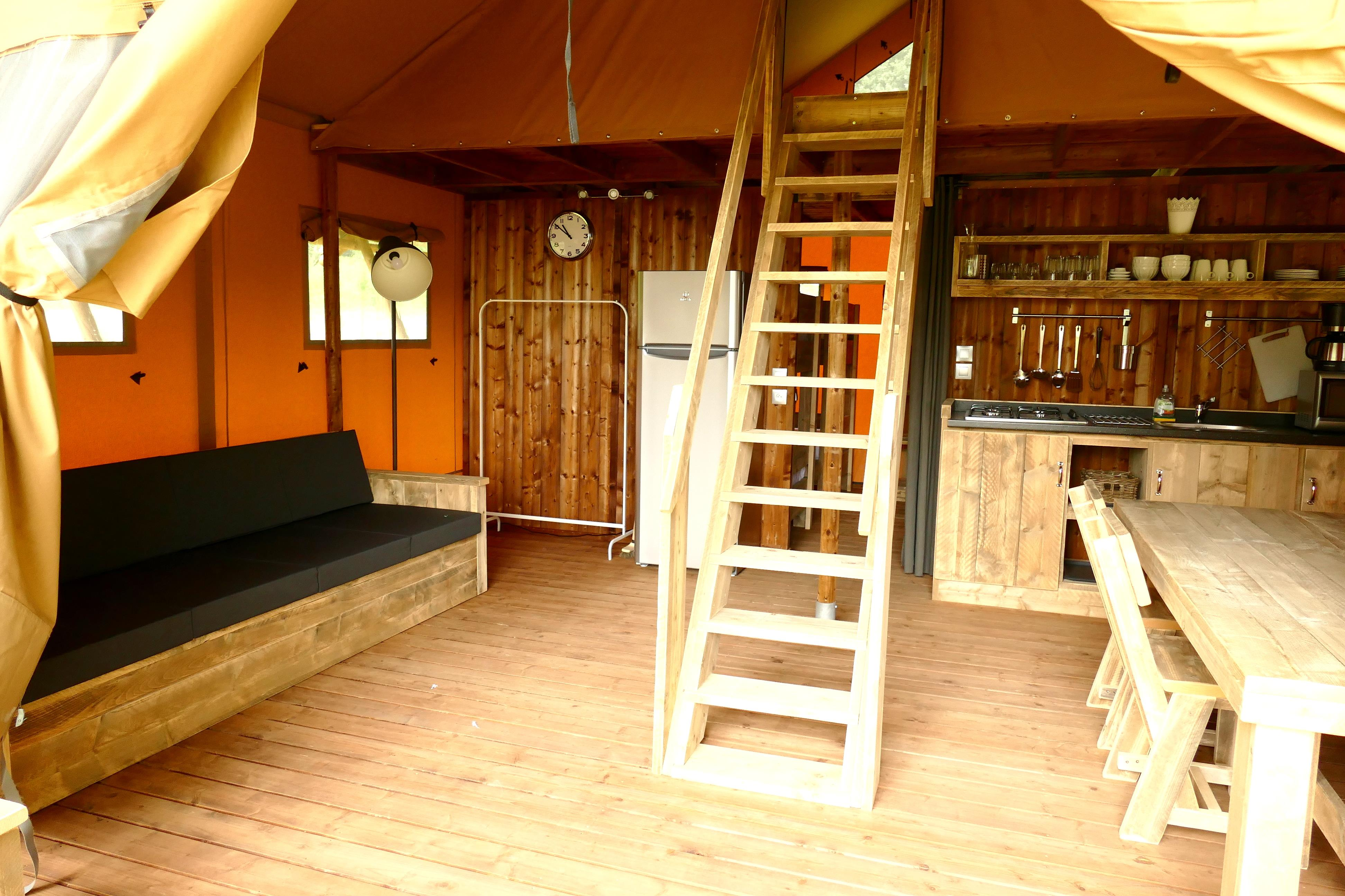 Glamping Tent Lodge luxe  Premium 61 m² - 2 slaapkamers